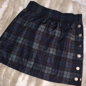 Forever21 green/blue plaid tear away skirt